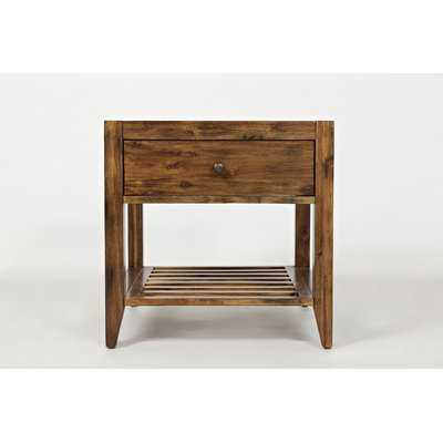 Cano Transitional Wooden End Table - Wayfair