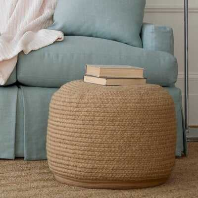 "Braided Natural Indoor/Outdoor Pouf 20""W x 14""H - Wayfair"