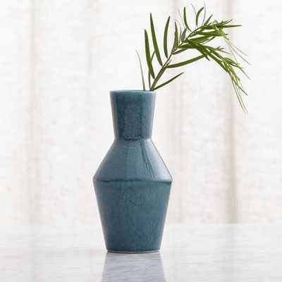 Mireya Teal Vase - Crate and Barrel