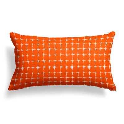 Grouchy Goose Sea Island Orange Rectangular Lumbar Outdoor Pillow - Home Depot