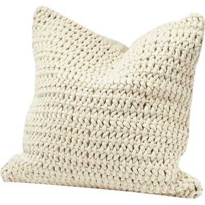 Woven Rope Cotton Pillow Cover - Wayfair