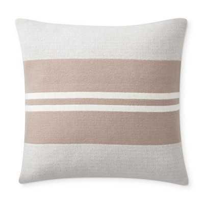 "Greenwich Pillow Cover, 22"" X 22"", Grey - Williams Sonoma"