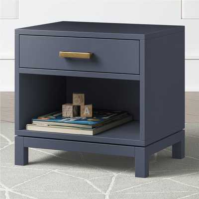 Kids Parke Navy Blue Nightstand - Crate and Barrel