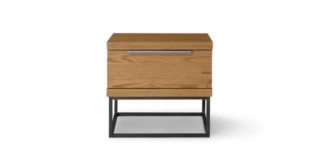 Taiga Oak 1 Drawer Nightstand - Article