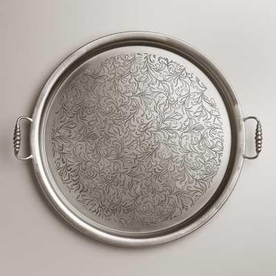 Large Round Iron Tea Tray - World Market/Cost Plus