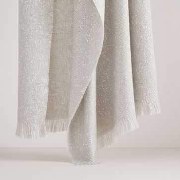 Speckled Throw, Stone Gray - West Elm
