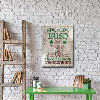'Good Times at the Irish Pub' Framed Textual Art on Wrapped Canvas - Wayfair