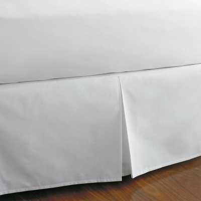Classic White Percale King Bed Skirt - Home Depot