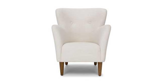 Happy Quartz White Armchair, Honey Walnut - Article
