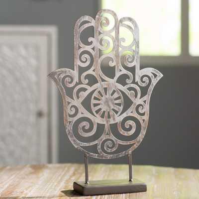 Metal Hamsa Sculpture - Wayfair