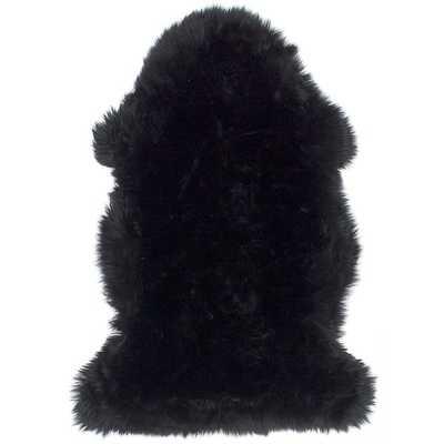 Ecarpetgallery Handmade Sheep Skin Black Wool Rug (2' x 3') - Overstock