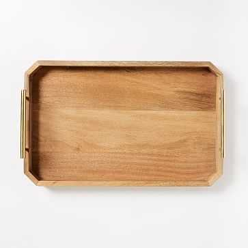 "Deco Handle Serve Tray, 12""x18"", Natural - West Elm"