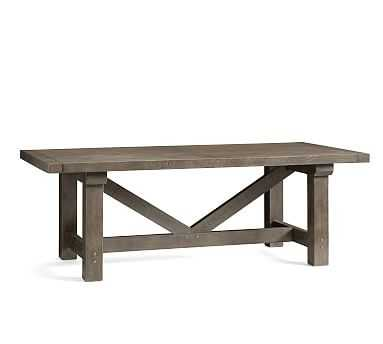 "Landon Reclaimed Wood Extending Dining Table, Rustic Gray, 86""L x 42""W - Pottery Barn"