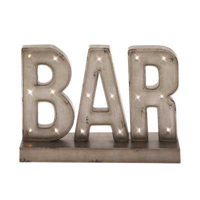 Bodie LED Bar Sign Letter Block - Wayfair