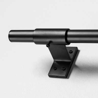 120 Curtain Rod Matte Black - Hearth & Hand with Magnolia - Target