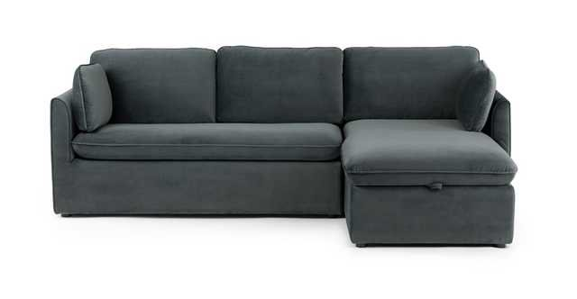 Oneira Deep Sea Blue Right Sofa Bed - Article