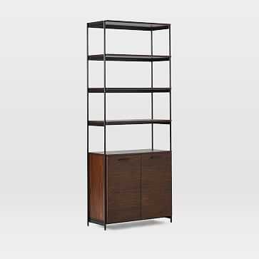 Foundry Wide Bookcase, Dark Walnut - West Elm