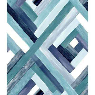 York Wallcoverings Wynwood Geometric Wallpaper, Blue - Home Depot