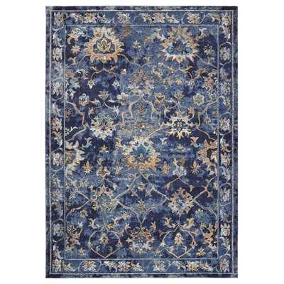 Amory Contemporary Jacobean Blue Area Rug - Wayfair