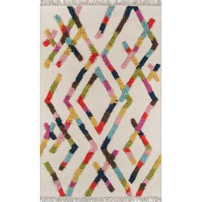 Indio Ramona Handwoven Flatweave Wool Cream Area Rug 8x10 - AllModern