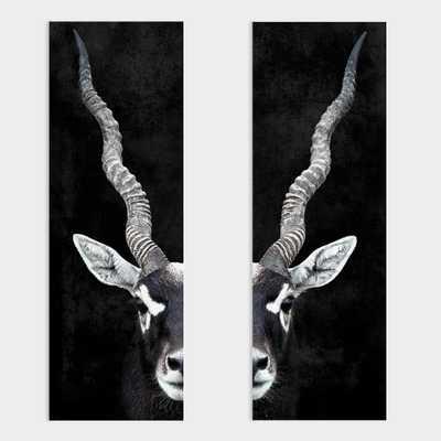 Antelope Portrait Diptych Canvas Wall Art Set Of 2 by World Market - World Market/Cost Plus