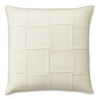 """Bailey Woven Linen Pillow Cover, 22"""" X 22"""", Oyster - Williams Sonoma"""