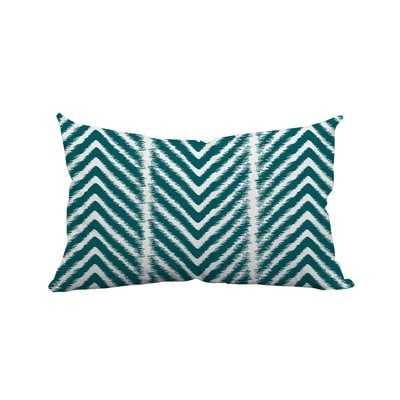 """Prestridge Zebra Chevron Print Indoor/Outdoor Lumbar Pillow // 14""""x20"""" // Insert Included - Wayfair"""