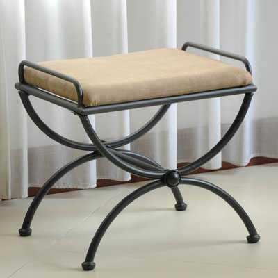 Blomberg Contemporary Iron Vanity Stool - Wayfair