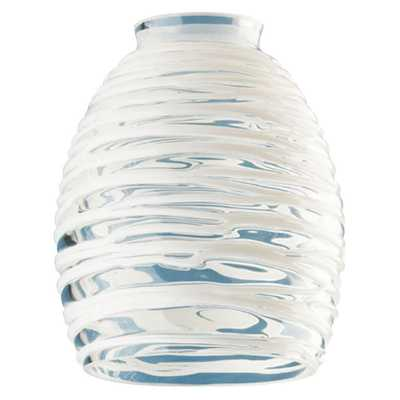 Westinghouse 5-3/4 in. Handblown Clear with White Rope Shade with 2-1/4 in. Fitter and 4-5/8 in. Width - Home Depot
