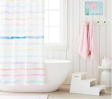 Rainbow Stripe Shower Curtain - Pottery Barn Kids