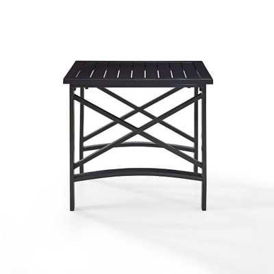 Crosley Kaplan Cast Aluminum Outdoor Side Table - Home Depot