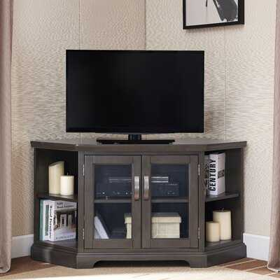 Corner TV Console With Bookcases,  Fits TVs Up To 50 - Wayfair