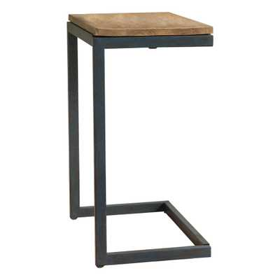 Noble House Brown and Gray Fir Wood Accent Table, Brown/Black - Home Depot