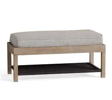 Lucy Entry Collection, Shoe Bench, Light Wood/Black Metal - Pottery Barn