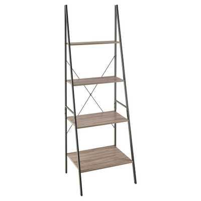 "70 ""Ladder Bookshelf Mixed Material - 70"" - Gray - ClosetMaid - Target"