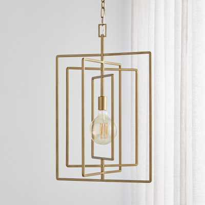 Pivot Brass Caged Pendant Light - Crate and Barrel