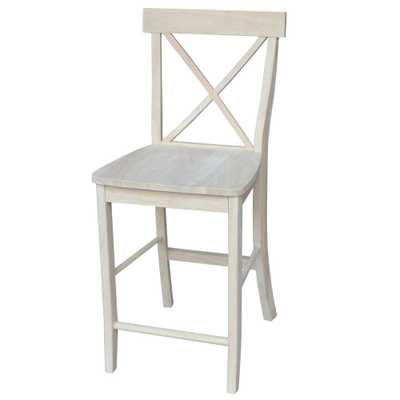 24 in. Unfinished Wood Bar Stool - Home Depot