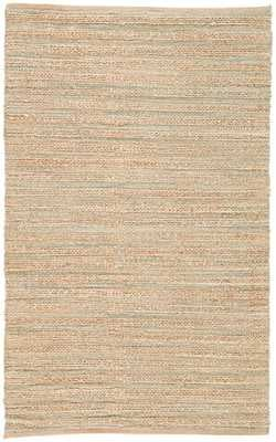 Canterbury Natural Solid Tan/ Green Area Rug (9'X12') - Collective Weavers