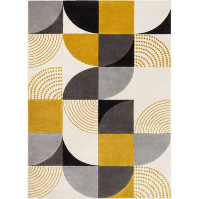 Well Woven Good Vibes Margot Gold Modern Geometric Chevron 7 ft. 10 in. x 10 ft. 6 in. Area Rug - Home Depot