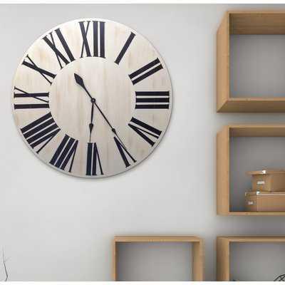 "Oversized Glastbury 36"" Wall Clock - Wayfair"