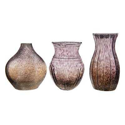 Leyt Glass 3 Piece Table Vase Set - Wayfair