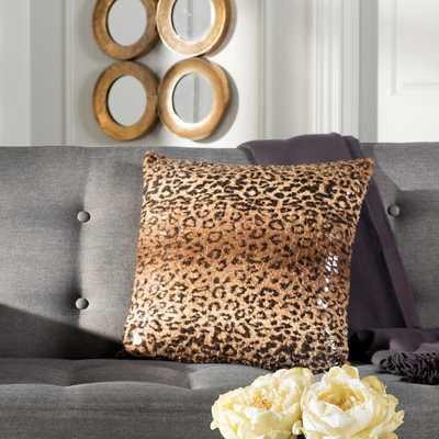 Zuma Cheetah Standard Pillow, Brown - Home Depot