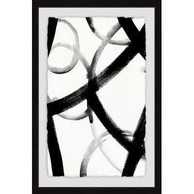 'Monochrome Ripple III' Framed Print - Wayfair