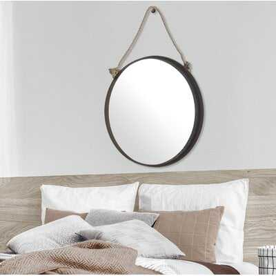 Duane Decorative Round Rope Hanging Accent Mirror - Wayfair