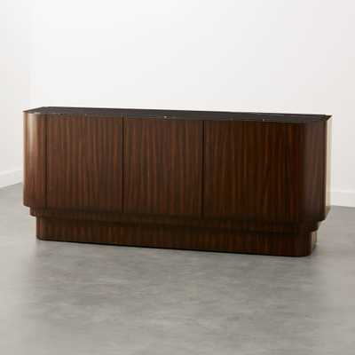 Jacques Marble and Wood Media Console - CB2