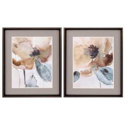 Poppy2 Piece Framed Painting Print Set - Wayfair