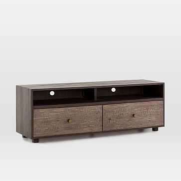 Modern Mixed Material Media Console - West Elm