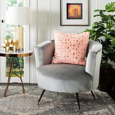 Glam Floral Applique Standard Pillow, Pink - Home Depot