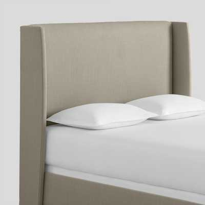 Textured Woven Bryn Upholstered Bed: beige - Fabric - Queen Bed by World Market Queen/Midnight - World Market/Cost Plus