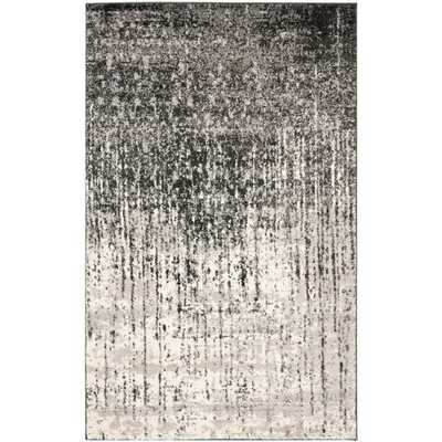 Retro Black/Grey 8 ft. x 10 ft. Area Rug, Black/Gray - Home Depot